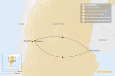 Map thumbnail of Argentina's Wine Country: Buenos Aires & Mendoza - 5 Days