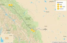 Map thumbnail of Canadian Rockies Road Trip: Banff, Lake Louise, & Jasper - 5 Days