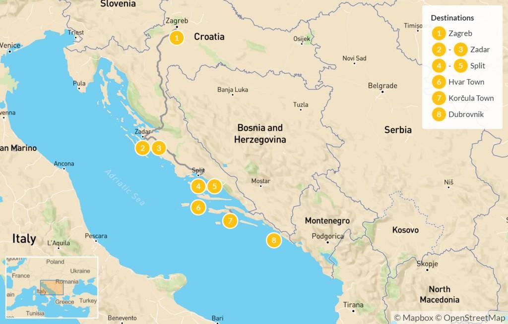 Croatia Luxury Tour Zagreb Zadar Split Dubrovnik 9 Days Kimkim