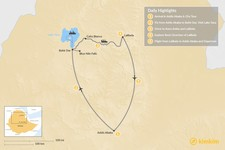 Map thumbnail of Short Trip to Ethiopia's North: 5-Day Itinerary