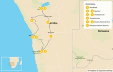 Map thumbnail of Namibia Self-Drive Adventure - 10 Days