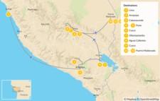 Map thumbnail of Culture & Nature in Peru: Colca Canyon, Machu Picchu, Sacred Valley, Lake Titicaca - 14 Days