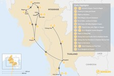 Map thumbnail of Myanmar & Thailand for Families - 19 Days