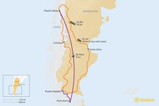 Map thumbnail of How to Get from Puerto Varas to Puerto Natales