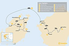 Map thumbnail of Off the Beaten Path in the Cyclades: Paros & Naxos - 8 Days