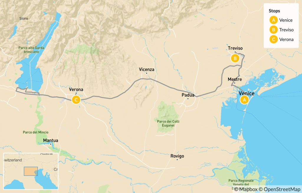 Map of Discover Treviso, Venice and Verona - 5 Days