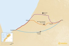 Map thumbnail of How to Get from Fes to Casablanca