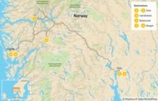 Map thumbnail of Family Hiking in Oslo, Bergen & the Sognefjord - 7 Days