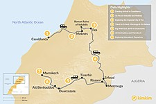 Map thumbnail of Grand Tour of Morocco: Imperial Cities & the Sahara Desert - 7 Days