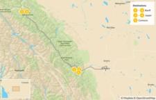 Map thumbnail of Canadian Rockies Road Trip: Banff, Lake Louise, & Jasper - 6 Days