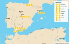 Map thumbnail of Spain North to South: Basque Country to Andalusia - 20 Days