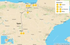 Map thumbnail of Northern Spain Road Trip: Madrid to the Basque Country - 8 Days