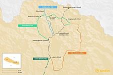 Map thumbnail of Best Treks in the Everest Region