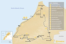 Map thumbnail of Morocco Grand Tour: Cities, Mountains, and Desert - 14 Days