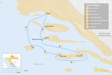 Map thumbnail of Sailing Dalmatia: Vis, Korčula, Hvar & Brač - 7 Days