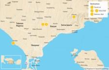 Map thumbnail of Scenic Bali: Tanah Lot, Ubud, Sideman - 5 Days