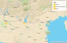 Map thumbnail of Venice to Milan via the Lakes Region - 8 Days