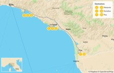 Map thumbnail of Cinque Terre and the Italian Riviera - 9 Days