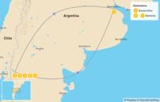 Map thumbnail of Trekking in Bariloche - 7 Days