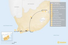 Map thumbnail of South Africa Food & Wine Tour: Cape Town, Garden Route, & Johannesburg - 12 Days