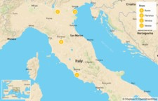Map thumbnail of Rome, Florence, Verona, & Venice - 9 Days
