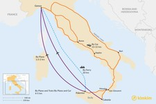 Map thumbnail of How to Get from Sicily to the Italian Riviera
