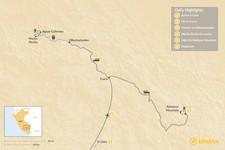 Map thumbnail of Machu Picchu & Rainbow Mountain Adventure - 6 Days