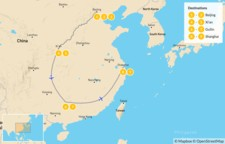 Map thumbnail of China's Highlights - 10 Days