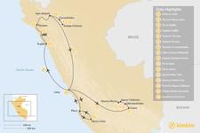 Map thumbnail of Peru Cultural Tour & Short Inca Trail - 16 Days