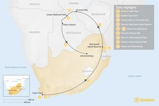 Map thumbnail of Southern Africa Safari: Cape Town, Victoria Falls, Chobe National Park, & More - 10 Days