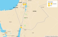 Map thumbnail of Jerusalem, Masada & Dead Sea - 3 Days