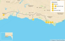 Map thumbnail of Michelin Star Dining in the Algarve - 7 Days