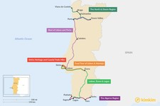 Map thumbnail of 7 Days in Portugal - 6 Unique Itinerary Ideas