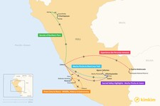 Map thumbnail of 5 Days in Peru - 5 Unique Itineraries