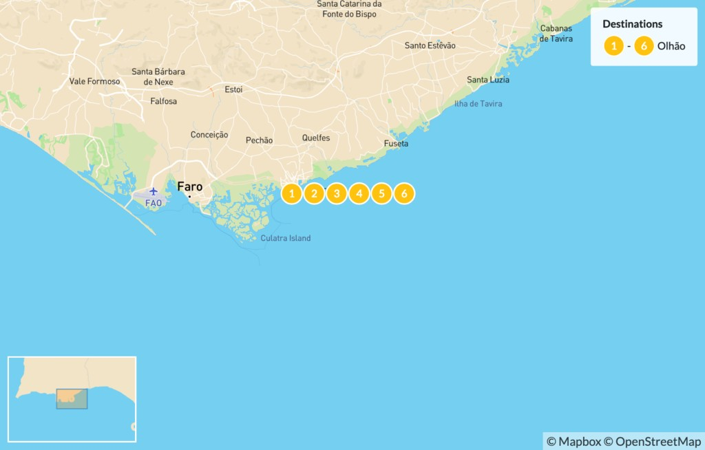 Map of Food Tour of the Algarve - 7 Days