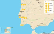 Map thumbnail of Ultimate Portugal Tour: Lisbon, Porto, The Algarve, Douro Valley, & More - 14 Days