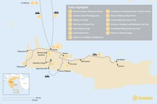 Map thumbnail of Athens and Crete Family Adventure - 13 Days