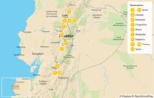 Map thumbnail of Ecuador Cities & Volcanoes: Quito to Cotopaxi - 12 Days