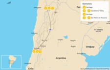 Map thumbnail of Active Chilean Honeymoon: Casablanca & Atacama - 8 Days