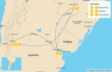 Map thumbnail of Buenos Aires, Mendoza, & Iguazú - 8 Days