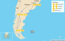 Map thumbnail of Buenos Aires, El Calafate, & Bariloche - 14 Days