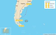 Map thumbnail of Ushuaia & El Calafate Adventure - 11 Days