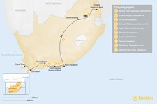 Map thumbnail of South Africa Wildlife Road Trip - 10 Days