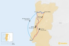 Map thumbnail of How to Get from Lisbon to Douro Valley