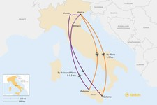 Map thumbnail of How to Get from Venice to Sicily