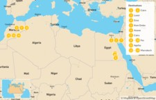 Map thumbnail of Egypt & Morocco Highlights: Cairo, Nile River, Fes, Marrakech, & More - 15 Days