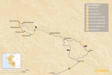 Map thumbnail of Sacred Valley & Inca Trail Excursion - 8 Days