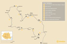 Map thumbnail of Discover Transylvania's Heritage by Bike: 9 Days