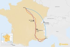 Map thumbnail of How to Get from Paris to Nice