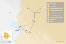 Map thumbnail of Exploring the Andes and Amazon Rainforest - 10 Days